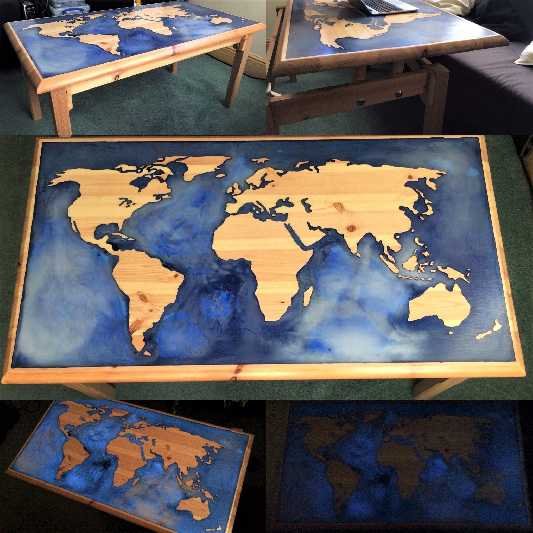 Светящийся стол из дерева своими руками фото 909